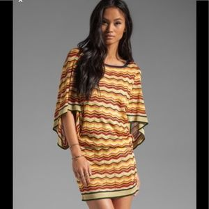 *Trina Turk* Casablanca Chevron Knit Dress- PETITE